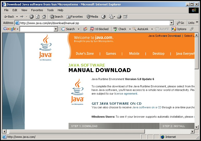 sun microsystems site jre 1.5 download for mac