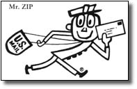 The original USPO Mr. Zip